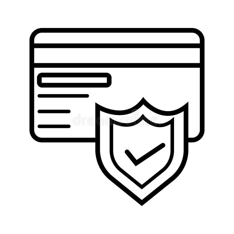 Seguridad de la tarjeta de crédito libre illustration