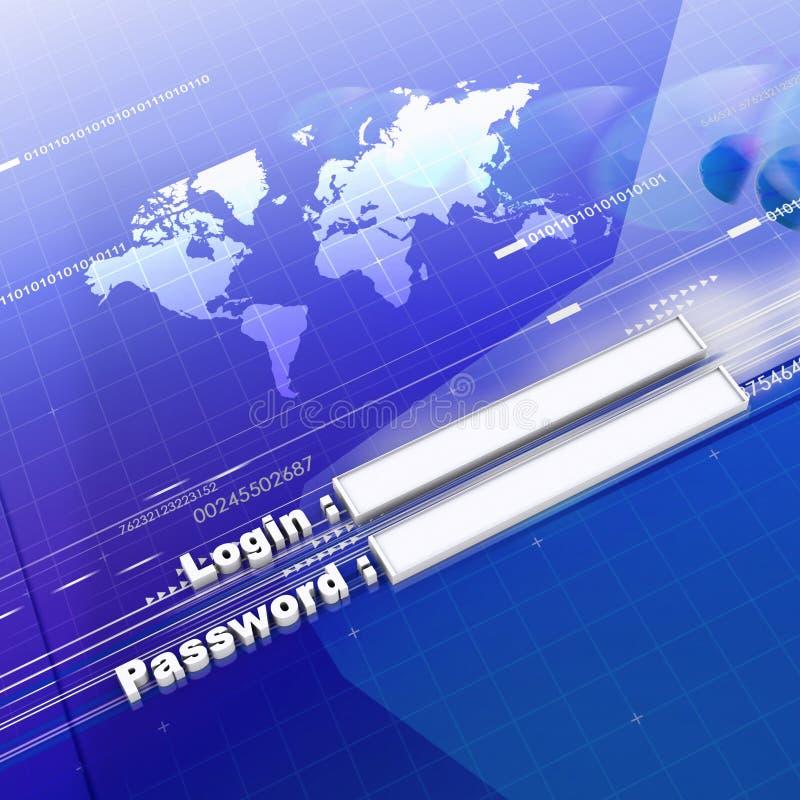 Seguridad de las actividades bancarias stock de ilustración