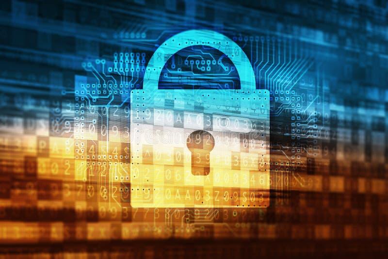 Seguridad de los datos de la contraseña stock de ilustración