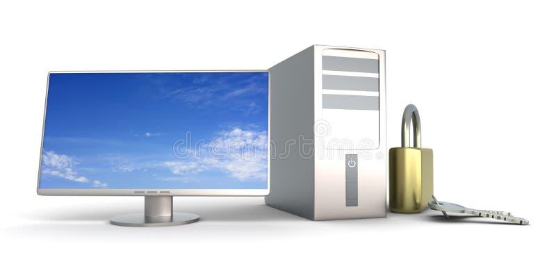 Seguridad de ordenador ilustración del vector