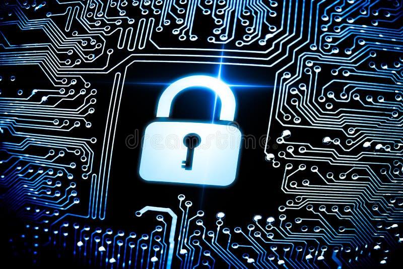 Seguridad de ordenador fotos de archivo libres de regalías