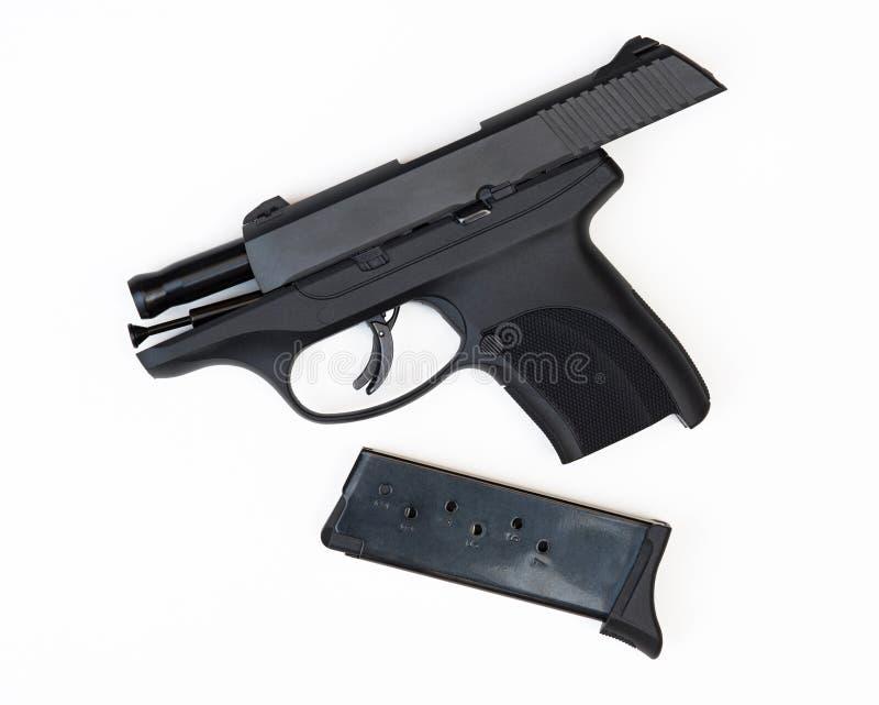 Seguridad del arma, pistola de 9m m imágenes de archivo libres de regalías