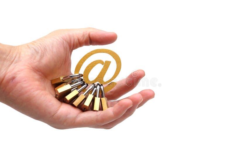 Seguridad del correo electrónico imagenes de archivo