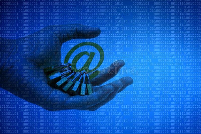 Seguridad del correo electrónico imágenes de archivo libres de regalías