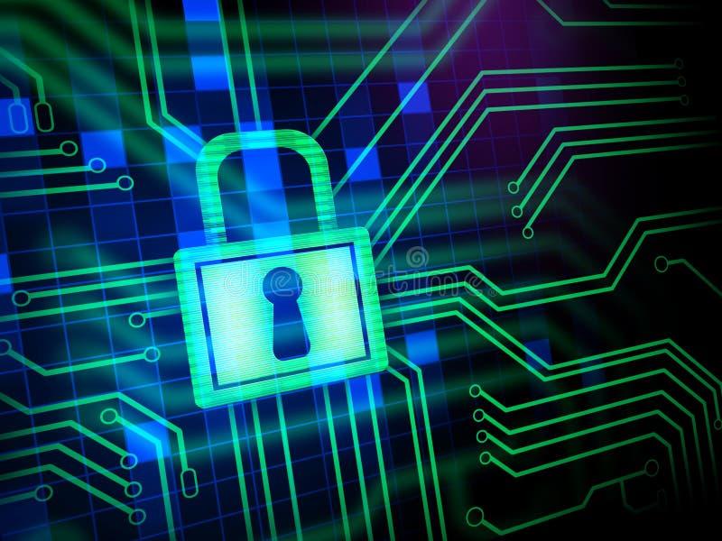 Seguridad del Cyber ilustración del vector