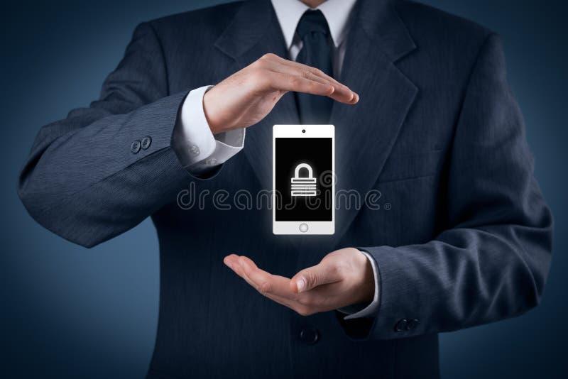 Seguridad del dispositivo móvil fotos de archivo libres de regalías