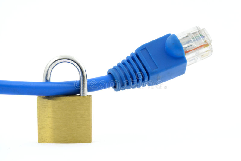 Seguridad del Internet fotos de archivo