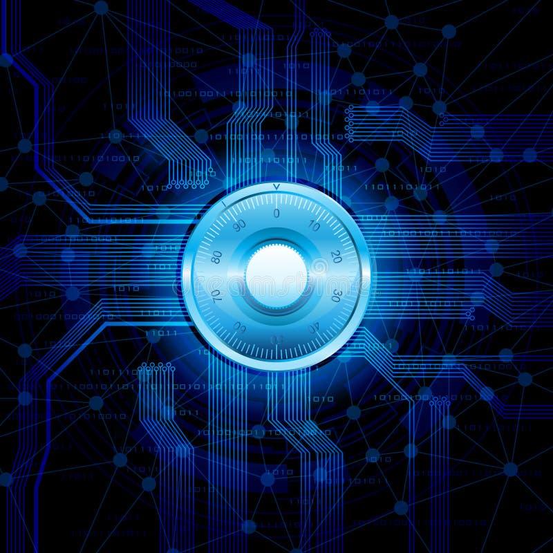 Seguridad del Internet libre illustration