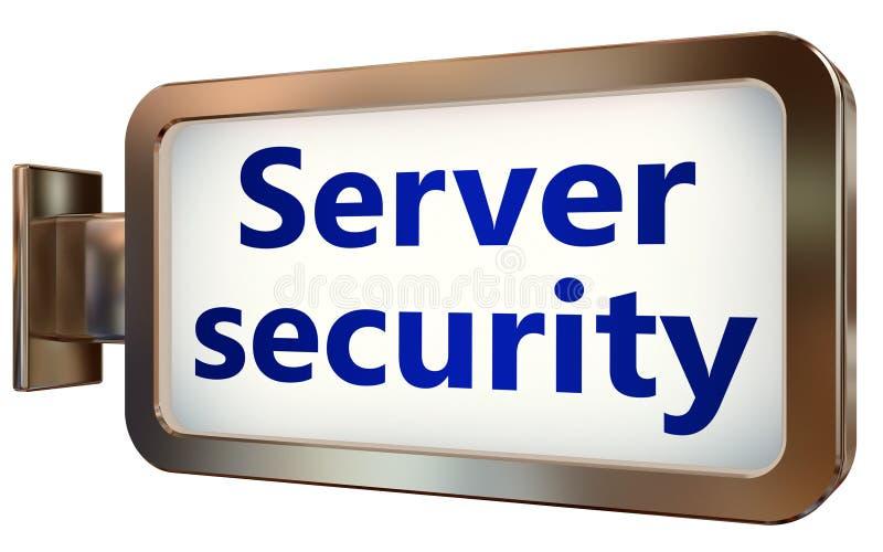 Seguridad del servidor en fondo de la cartelera stock de ilustración