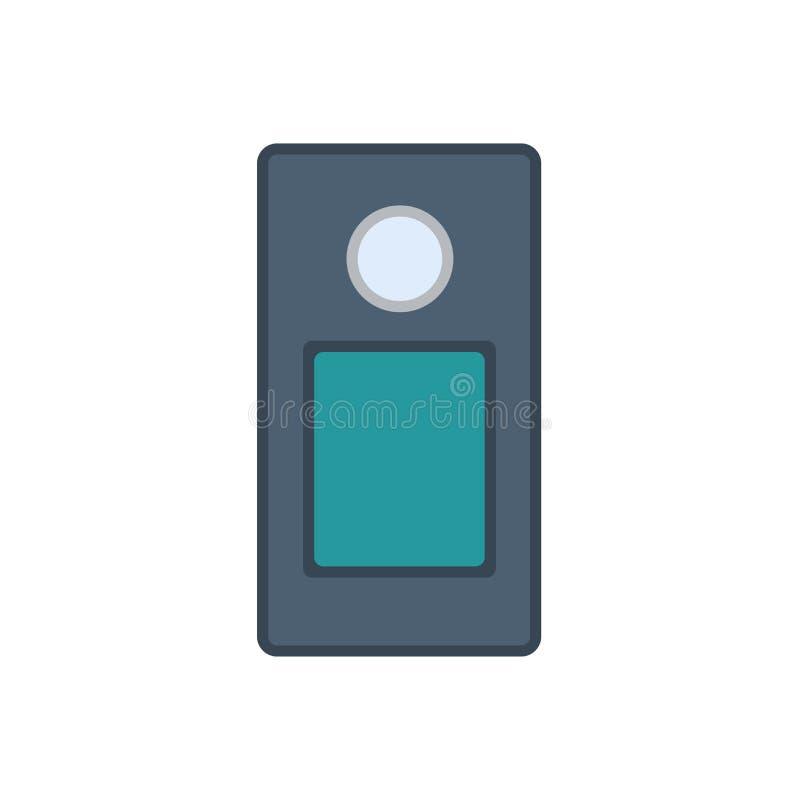Seguridad en el hogar del icono del vector del sistema de intercomunicación Control de puerta de la casa aislado Campana de la en libre illustration
