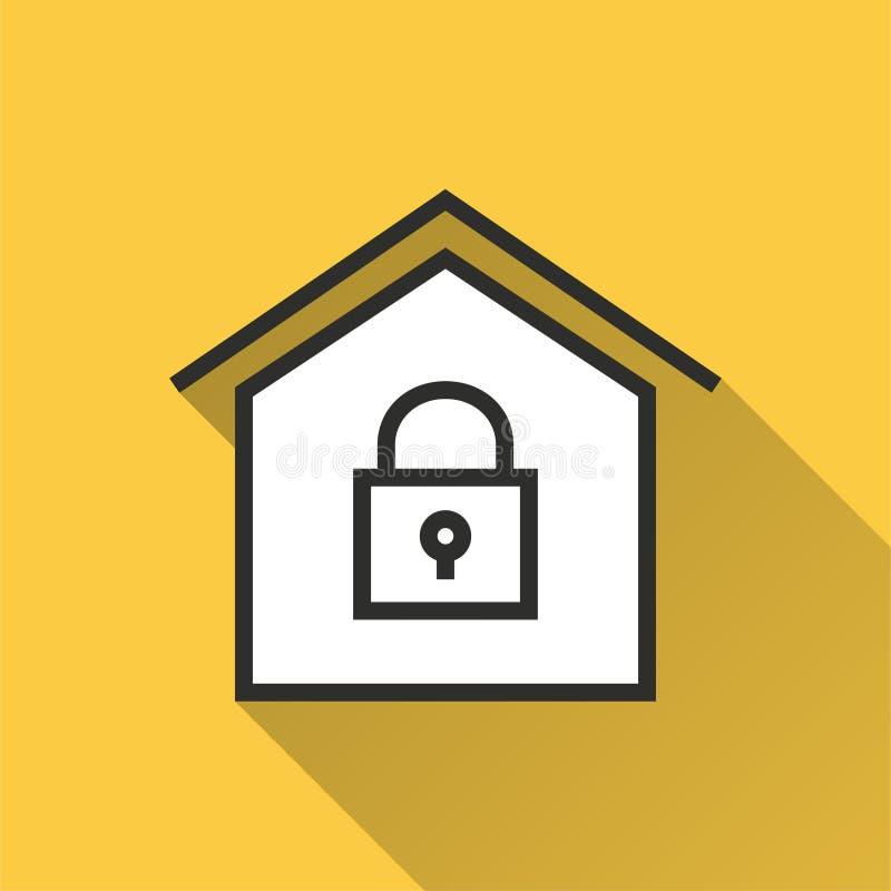 Seguridad en el hogar - icono del vector para el gráfico y el diseño web libre illustration