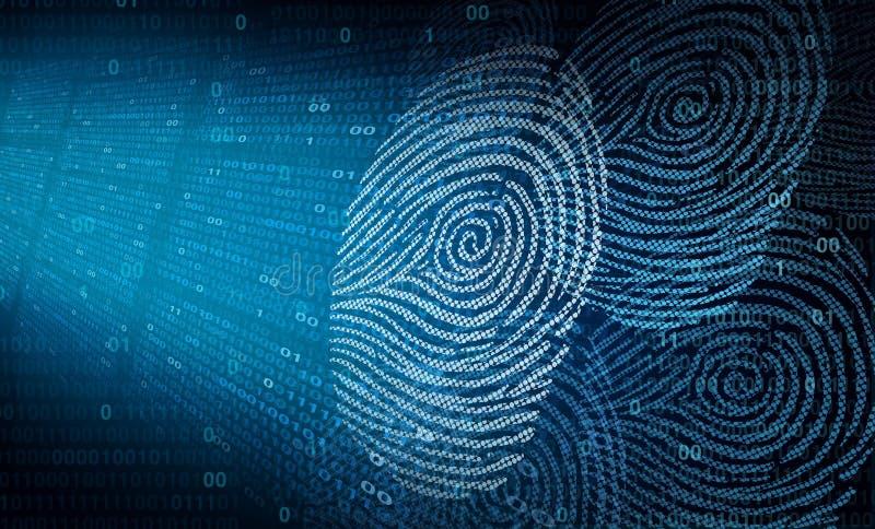 Seguridad en línea personal ilustración del vector