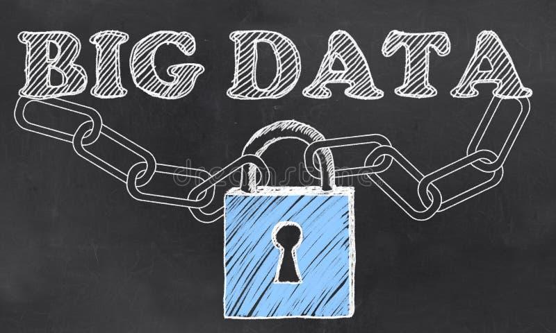 Seguridad grande de los datos las TIC ilustración del vector