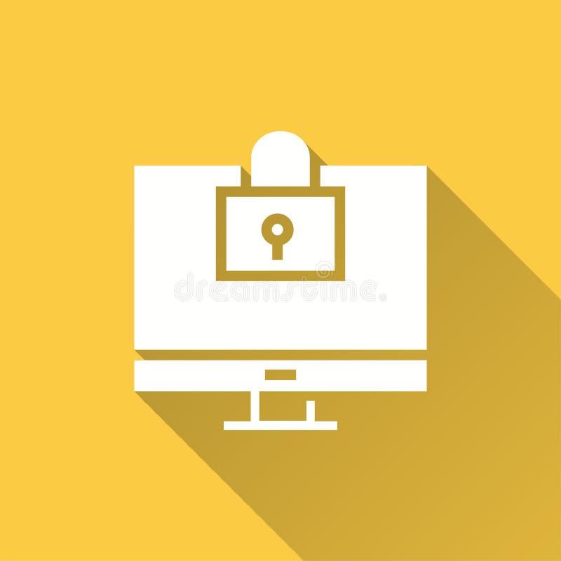 Seguridad informática - icono del vector para el gráfico y el diseño web ilustración del vector