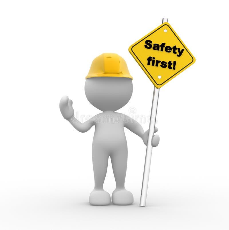 Seguridad primera stock de ilustración