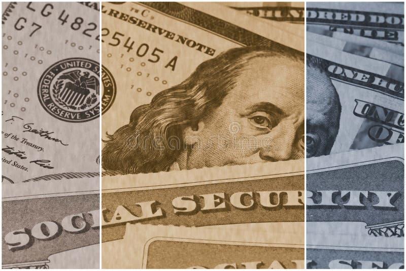 Seguridad Social y ingresos de jubilación foto de archivo libre de regalías