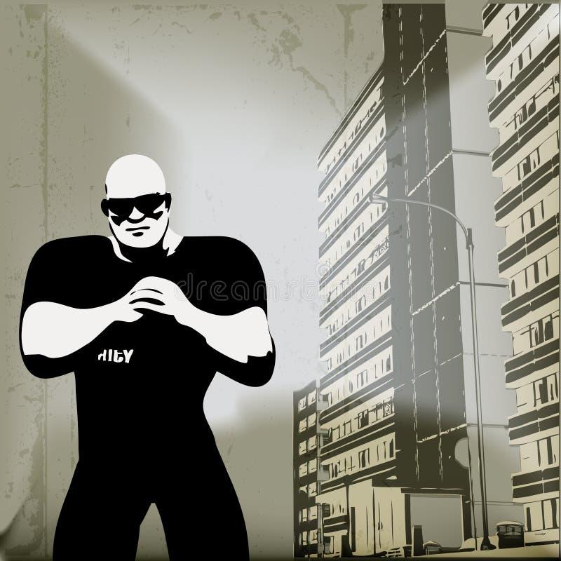 Seguridad urbana stock de ilustración