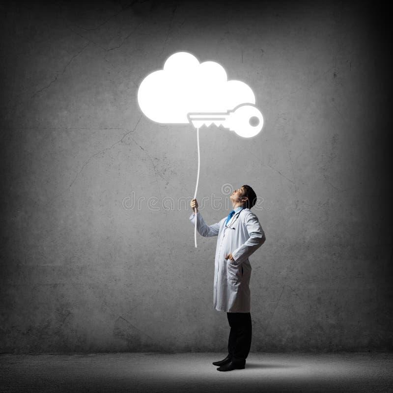 Seguridad y protección de datos médicos fotografía de archivo libre de regalías