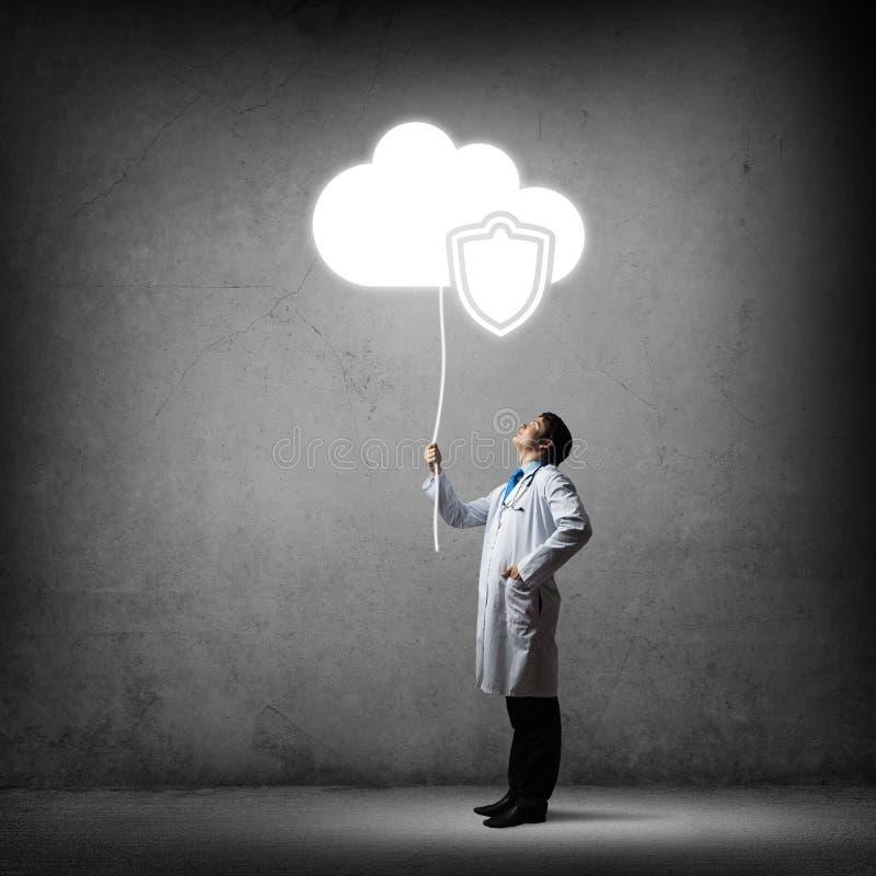 Seguridad y protección de datos médicos imagen de archivo libre de regalías