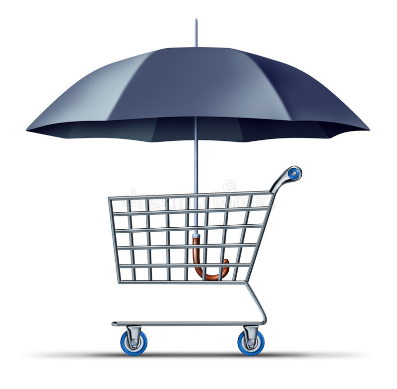 Seguridad y protección del consumidor ilustración del vector