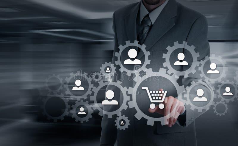 Seguridad y seguro del comercio y de las mercancías Concepto de la protección al consumidor fotografía de archivo libre de regalías