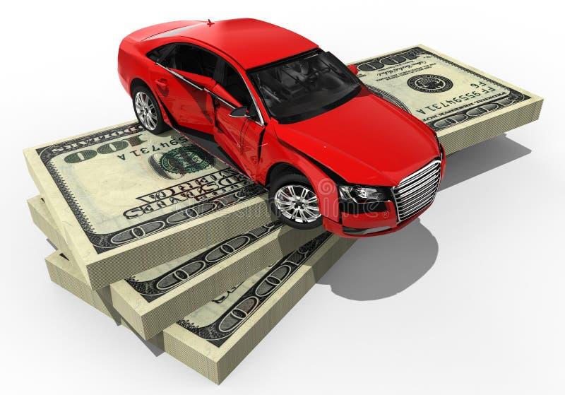 Seguro de coche costoso libre illustration