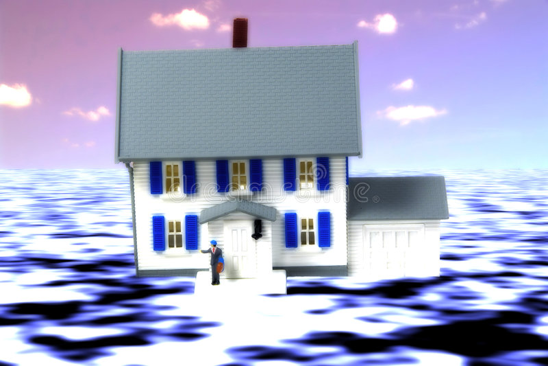 Seguro de inundación ilustración del vector