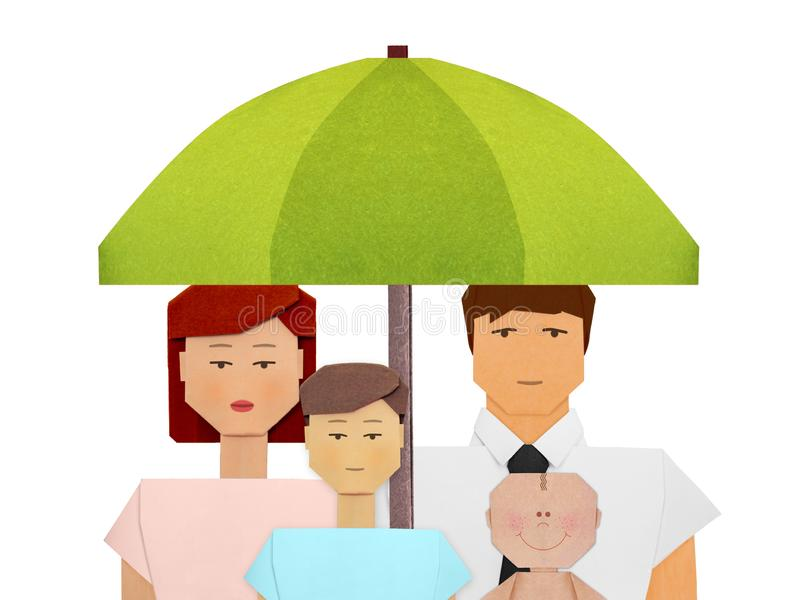 Seguro de la protección del ejemplo social del concepto de la familia imagen de archivo