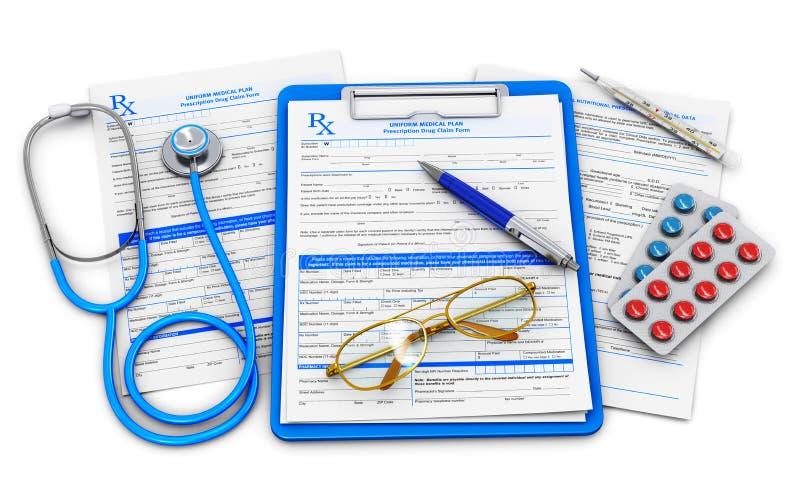 Seguro médico y concepto de la atención sanitaria libre illustration