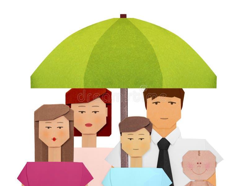 Seguro del paraguas de la protección del ejemplo social del concepto de los pensionistas fotos de archivo libres de regalías