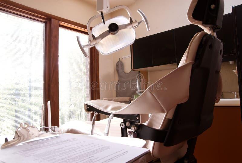 Seguro dental del dentista de la silla imagen de archivo