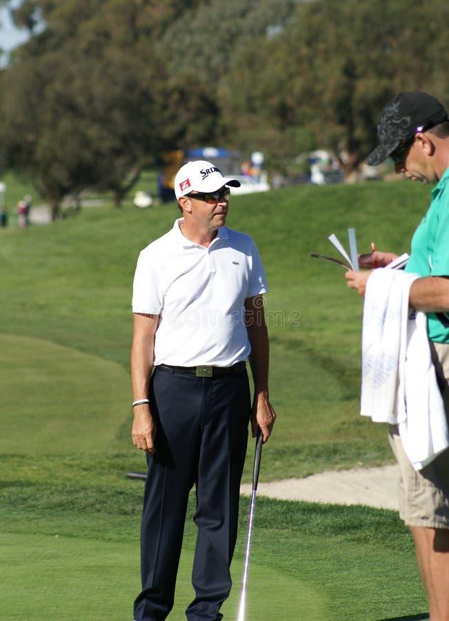 Seguro dos fazendeiros do jogador de golfe 2011 de Robert Allenby aberto fotografia de stock