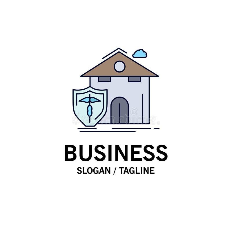 seguro, hogar, casa, muerte, vector plano del icono del color de la protección libre illustration