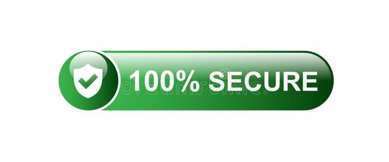 100% seguro ilustração do vetor