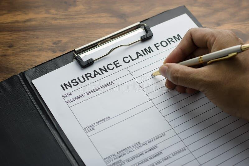 seguro médico de la demanda del formulario de inscripción imagenes de archivo