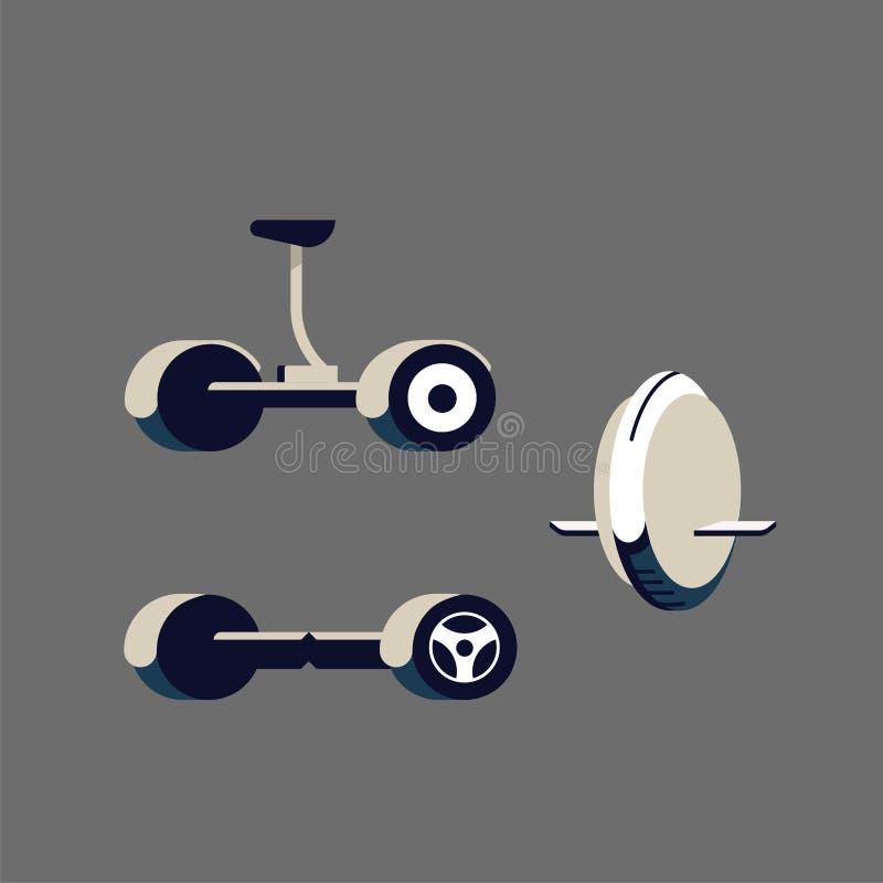 Segway Monowheel ή σόλο ρόδα ελεύθερη απεικόνιση δικαιώματος