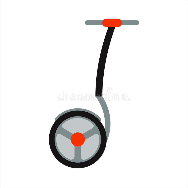 Segway vector icon. Alternative transport vehicle segway electric gyro scooter balance motion drive vector illustration. Motion active fun rid leisure. Mobility royalty free illustration