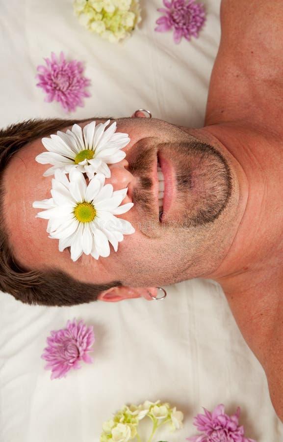 Sehen der Blumen stockbilder