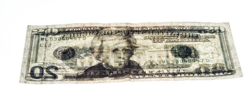 Sehen Sie durch Dollarschein US 20 lizenzfreie stockfotografie