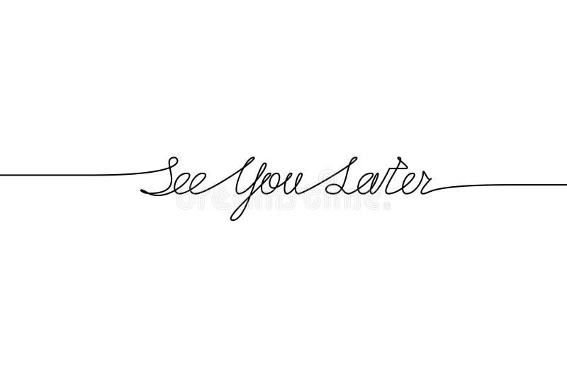 SEHEN Sie SIE NEUERE handgeschriebene Aufschrift Hand gezeichnete Beschriftung alligraphy Ein Federzeichnung Phrase Vektorillustr vektor abbildung