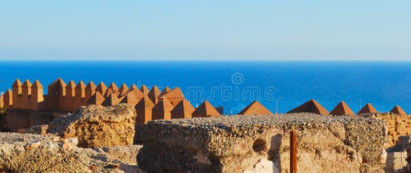 Sehen Sie vom Alcazaba lizenzfreie stockbilder