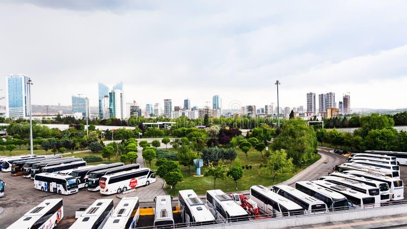 Sehirler Arasi dworzec autobusowy w Ankara mieście fotografia royalty free