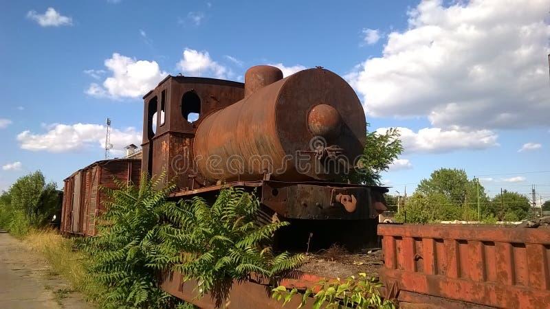 Sehr alte Dampflokomotive lizenzfreie stockbilder