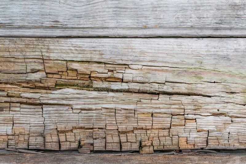 Sehr alte hölzerne Brettbeschaffenheit mit gebrochenem natürlichem Muster, abstrakter Schmutzhintergrund, lizenzfreies stockbild