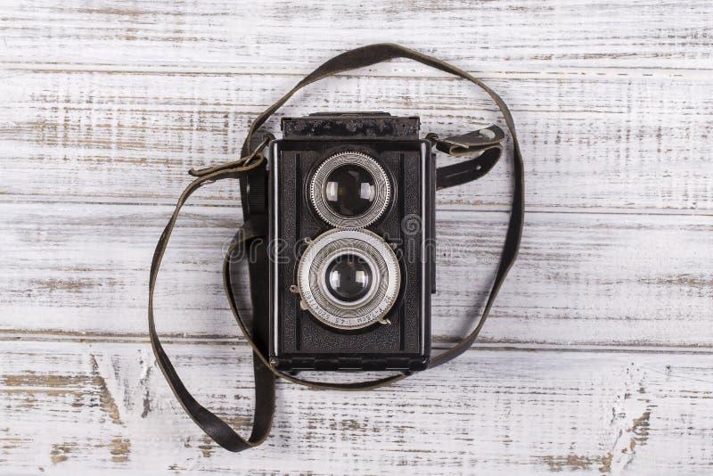 Sehr alter Kameraabschluß oben lizenzfreies stockbild
