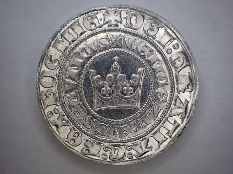 sehr altes tschechisches silbernes Geld stockfoto