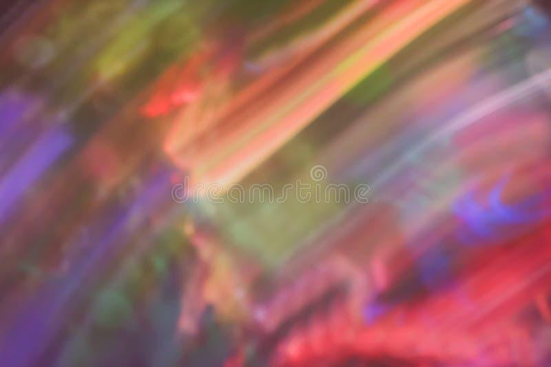 Sehr bunter unscharfer Hintergrund mit diagonalen Linien stockfotografie