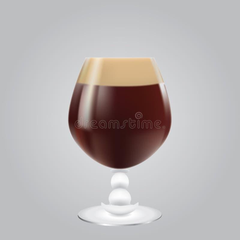 Sehr dunkles Bier stock abbildung