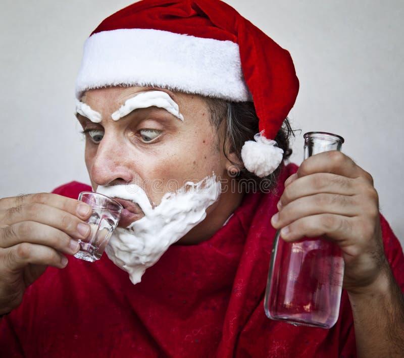 Sehr falscher Weihnachtsmann lizenzfreie stockfotografie