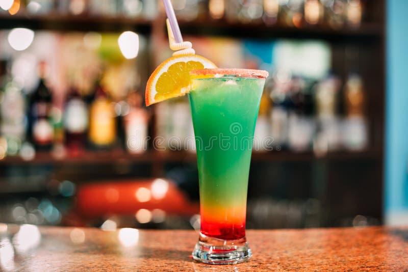 Sehr geschmackvolles und kühles Cocktail stockfotos